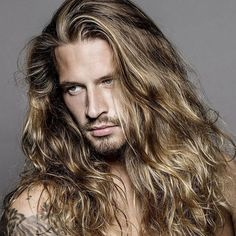 lange Haarmodelle - White Long Hairs With Half Classy Pony Click image for info. Hair And Beard Styles, Curly Hair Styles, Bobs Blondes, Peinados Pin Up, Blonde Guys, Good Looking Men, Male Beauty, Gorgeous Men, Beautiful Men Faces