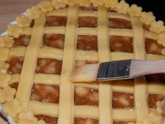 Rácsos almás pite recept lépés 7 foto Apple Pie, Waffles, Food And Drink, Eat, Breakfast, Morning Coffee, Apple Cobbler, Waffle, Apple Cakes