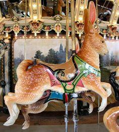 National Carousel Association - The Dentzel Carousel at Glen Echo - Dentzel Row Rabbit Mime, Glen Echo, Pierrot, Wooden Horse, Painted Pony, Merry Go Round, Carousel Horses, Amusement Park, My Ride