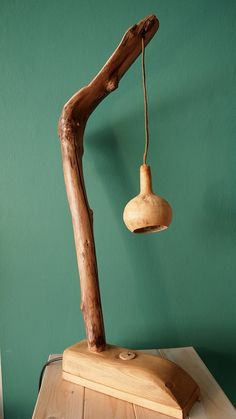 ANDROUKLIA Wood Hanging Gourd switch natural tree branch lamp on Etsy, $103.23 AUD