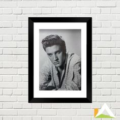 Quadro de Poster do cantor Elvis Presley.