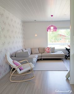 Design-Talo Piippola 136 olohuone kuin karkki