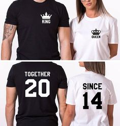 Together Since T-Shirts Anniversary Shirts Wedding Shirts