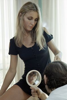 Roman Polanski and Sharon Tate photographed by Jack Garofalo, Cannes 1968. [is it just me, or is this super-creepy?]