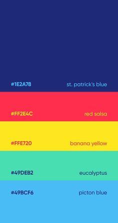 color and psychology Neon Colour Palette, Website Color Palette, Pantone Colour Palettes, Color Palate, Pantone Color, Couleur Hexadecimal, Color Patterns, Color Schemes, Color Palette Challenge