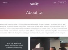 Weebly: Your idea needs a great website. Powerful Features to Create a Site, Blog, or Online Store http://www.weebly.com