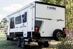 This is the Avida Emerald CV5934QB Caravan with Multi Terrain and Explorer packs.