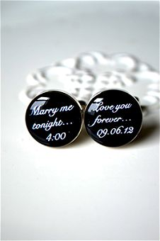 Marry Me Tonight Cufflinks (by white truffle studio) Ordered these for Dylan for our wedding day. Can't wait to give them to him on our big day:)) Wedding Day Gifts, Wedding Pins, Wedding Wishes, Our Wedding Day, Wedding Groom, Wedding Events, Dream Wedding, Wedding Ideas, Wedding Stuff