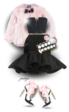 """""""She Loves Being a Girl"""" by rockreborn ❤ liked on Polyvore featuring Balmain, Dsquared2, Burberry and Le Specs"""