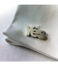 Yes Scotland Sterling Silver Cufflinks - #yesscotland