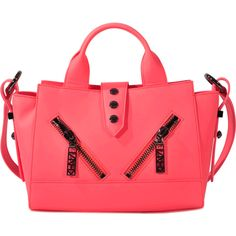 Kenzo Kalifornia Mini Tote ($437) ❤ liked on Polyvore featuring bags, handbags, tote bags, pink, mini tote bags, pink tote, mini tote handbag, mini handbags and tote purses