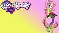 Equestria Girls Rainbow Rocks Fluttershy Wallpaper by on DeviantArt Rainbow Rocks, Fluttershy, Mlp, My Little Pony Party, Equestria Girls, Neon Signs, Fan Art, Ponies, Wallpapers