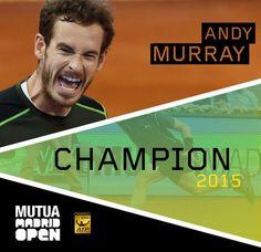 5/10/15 Via #MutuaMadridOpen:  ¡Enhorabuena @andy_murray! Congrats @andy_murray! Really good performance! #MMOPEN15