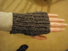 really easy knit hand warmers