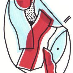 #bigotesucio #illustration #ilustración #color #red #blue