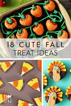 This year, we're giving plain pumpkin pie a super-cute update to make it even more tempting. These adorable desserts celebrate everything we love about fall. Cute Desserts, Fall Desserts, Fall Treats, Fall Recipes, Thanksgiving, Pie, Pumpkin, Sweets, How To Make