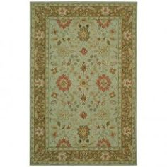 :)  Safavieh Chelsea HK502A Floral Hooked Rug - HK502A - Green Rugs - Area Rugs by Color - Area Rugs
