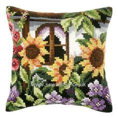 Sunflower Window Cushion Front