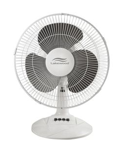 Small Table Fan In White Color By Lakewood