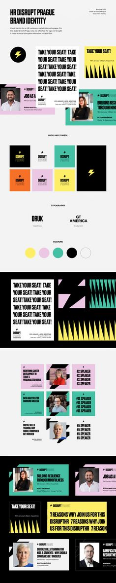 This time on a visual identity for an HR conference called that will take place next week in Prague!For this global brand's Prague stop we refreshed t… Visual Identity, Brand Identity, Brand Style Guide, Brand Guidelines, Global Brands, Fashion Branding, Prague, Style Guides, Conference