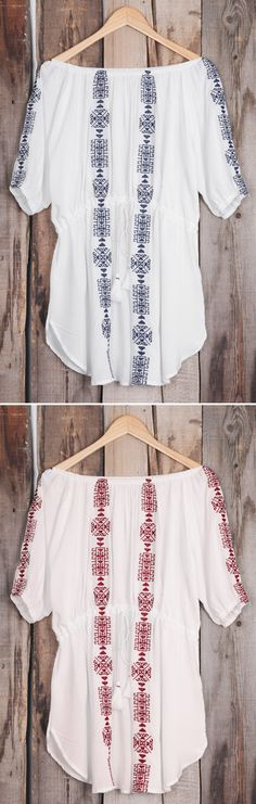 Inspire confidence and beauty! Short Shipping Time! Easy Return + Refund! The off the shoulder top is the perfect weekend piece to include in your wardrobe! Check more at Cupshe.com