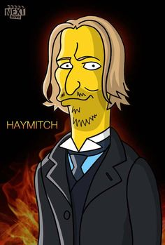 """""""The Hunger Games"""" Cast Simpsonized  March 21, 2012 in Art, Simpsons"""