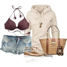 """""""Bonfire on the Beach"""" by wannabchef on Polyvore Clothes  Outift for • teens • movies • girls • women •. summer • fall • spring • winter • outfit ideas • dates • parties Polyvore :) Catalina Christiano"""