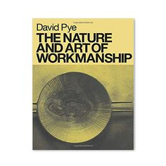 This is one of the classic books on craftsmanship and design. In it, David Pye explores the meaning of skill and its relationship to design and manufacture. Cutting through a century of fuzzy thinking, he proposes a new theory of making based on the concept of good workmanship and shows how it imparts all-important diversity to our visual environment.