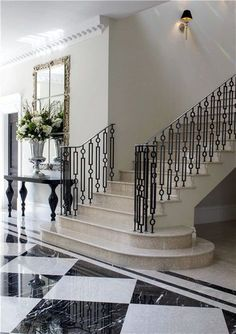 71 beautiful staircase ideas for a new home 66 > Fieltro.Net Modern Staircase Beautiful FieltroNet Home ideas Staircase Iron Stair Railing, Staircase Railings, Modern Staircase, Staircases, Winding Staircase, Luxury Staircase, Banisters, Design Entrée, Grill Design