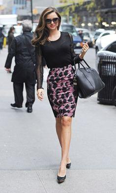 Miranda Kerr I love this look but could never wear it at my job!