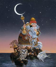 James Christensen.....  The Man Who Minds The Moon