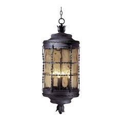 """MINKA LAVERY Mallorca Collection 32"""" High Outdoor Iron Hanging Fixture $625 + AN EXTRA 15% OFF AT CHECKOUT - USE PROMO CODE: HELLOFALL19 FREE SHIPPING OR PICK UP - WEBSITE: GlowOnSunset.Net"""