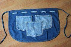 avental jeans