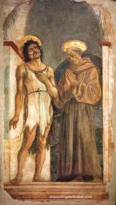 Domenico Veneziano St. John the Baptist and St. Francis of Assisi - Domenico Veneziano painting free shipping, painting Authorized official website