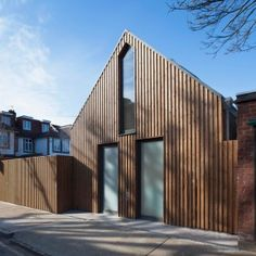 Giles+Pike+Architects+completes+timber-clad+house+for+a+tiny+London+plot
