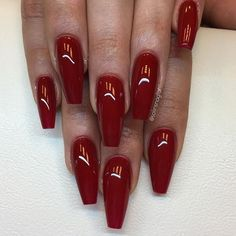 """Competition Red"" från #lillynails"