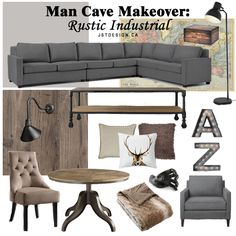 Man Cave Makeover: Rustic Industrial