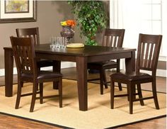 Brooklawn Slat Back Dining Chair - Smoke Brown (Set of 2) at www.dcgstores.com - Sale s $289.00