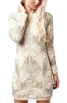 Topshop 'Gigi' Embellished Body-Con Dress | Nordstrom