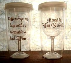 Wine Sippy Cup Sayings. These would be fun bridesmaid gifts, bachelorette party gifts, birthdays, Christmas! Wine Glass Sayings, Wine Quotes, Best Bridesmaid Gifts, Friend Crafts, Bachelorette Party Gifts, Vinyl Signs, Wine O Clock, Wine Tumblers, Mason Jar Wine Glass