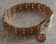 Vintage Givenchy Gold Tone Link Bracelet ~ #Vintage #Jewelry #VintageJewelry #Fashion #Style #Givenchy #VintageGivenchy #Beauty #Etsy #Design by StarliteVintageGems ~ SOLD