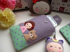 iPhone 4 case / iPhone case / iPod Touch case - Cat and Girll, Light Purple (Custom Size Available). $32.00, via Etsy.