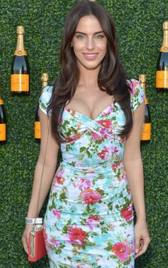 Jessica Lowndes in the floral Nigella Bloom dress