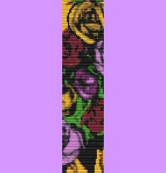 Multi-Colored Rose Bracelet Bead Pattern LOOM by TheBeadedCat