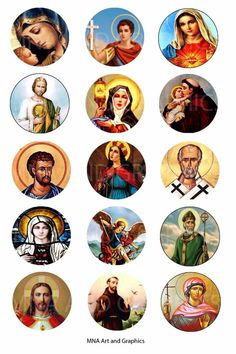 Christianity Catholic Saints bottle cap IMAGES 1 inch - Jesus and saints images  | Crafts, Multi-Purpose Craft Supplies, Crafting Pieces | eBay!