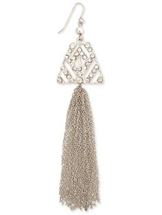 { Art Deco Tassel Earrings }