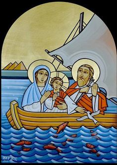 Orthodox Icon of Jesus On the Boat Religious Images, Religious Icons, Religious Art, Christian Images, Christian Art, Jesus Baptised, Religion, Christian Symbols, Catholic Art