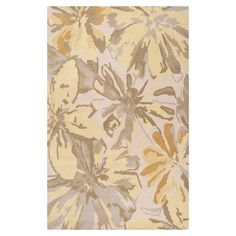 Charlton Home Millwood Beige/Gold Area Rug Rug Size: Square 6'