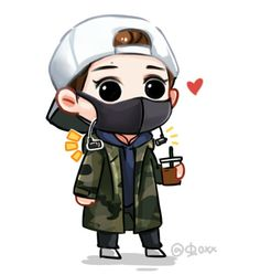 Exo Cartoon, Cute Cartoon Boy, Cartoon Fan, Chibi Boy, Bts Chibi, Anime Chibi, Baekhyun Fanart, Luhan, Exo Stickers