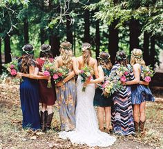 Pretty mixed dress bridesmaids dresses & styles!